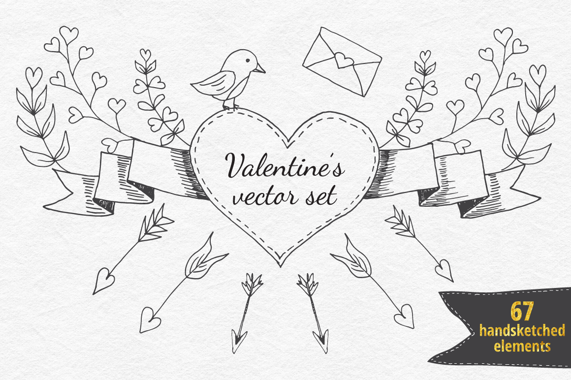 Valentine's Vector Collection example image 1
