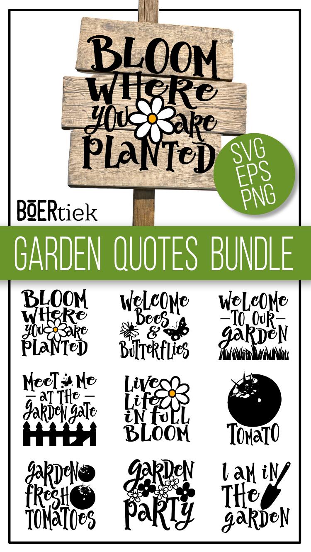 Garden bundle, SVG files example image 4