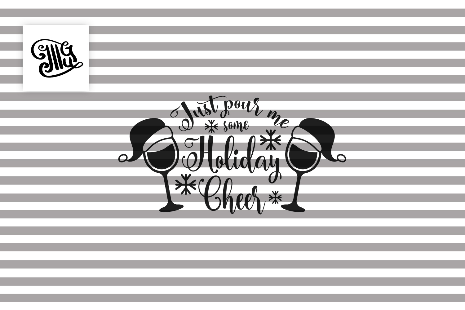 Just pour me some holiday Cheer - Christmas wine example image 2