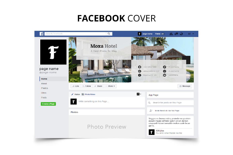 Moxa Hotel Social Media Kit example image 5