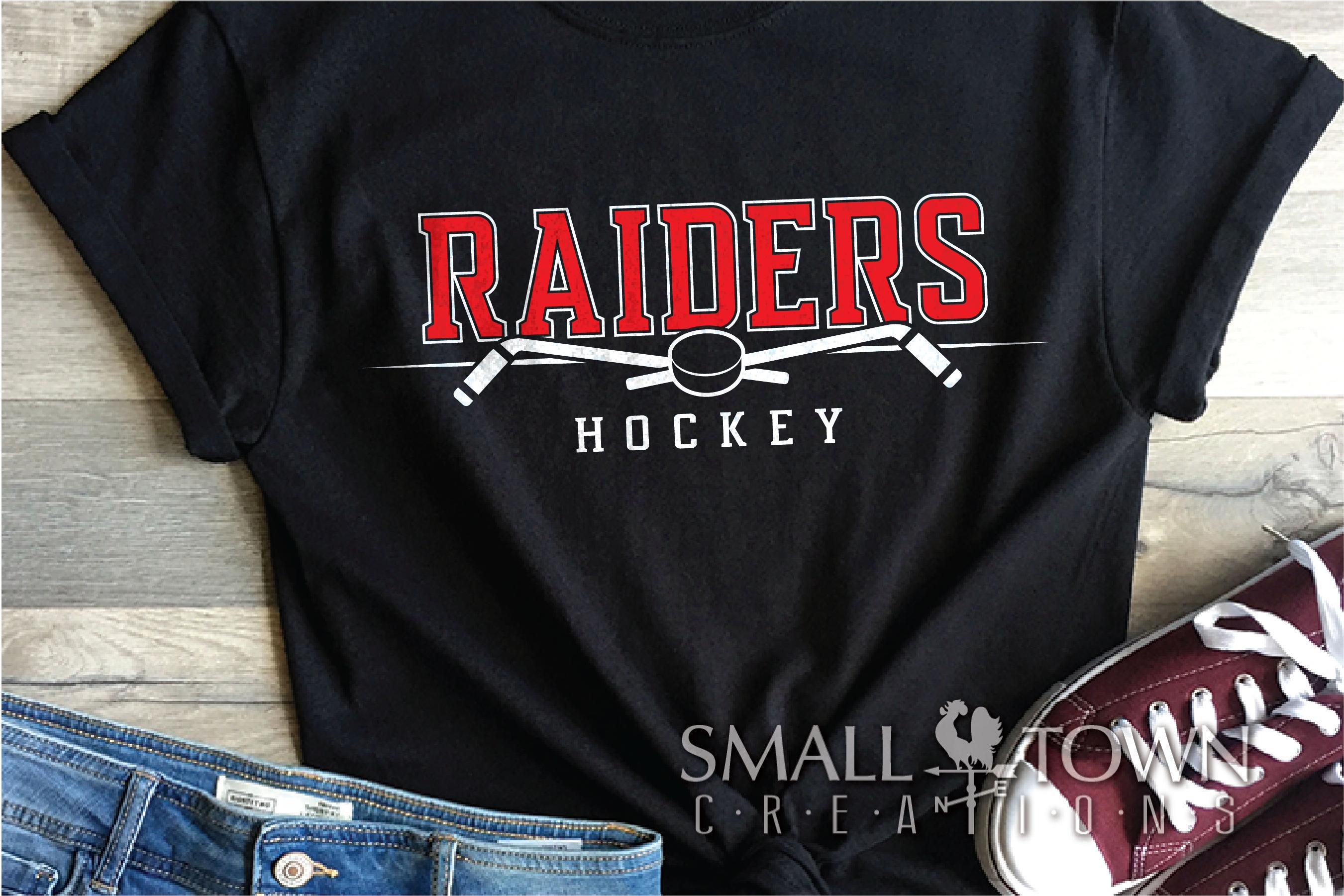 Raider, Hockey puck, Sports, Team logo, PRINT, CUT & DESIGN example image 1