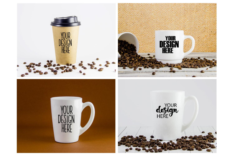 Mug mockup bundle 5, coffee cup, stock photo bundle example image 2