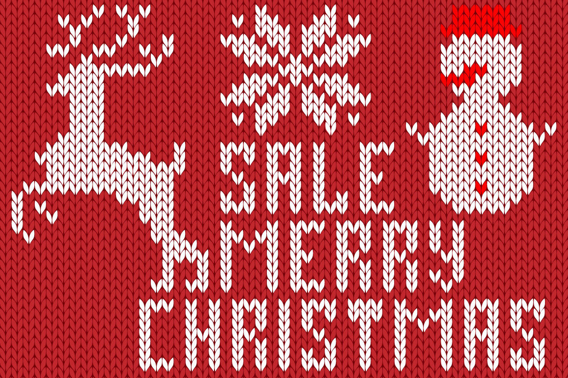 Christmas Knitted Font Ol example image 2
