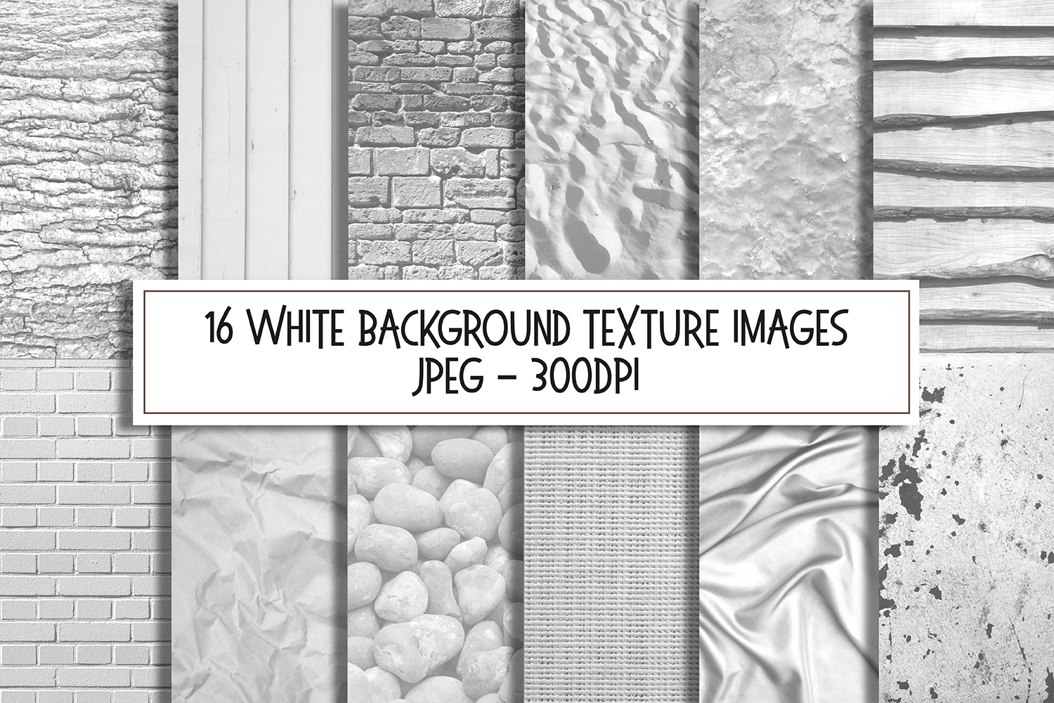White Texture Background Images Digital Papers Bundle example image 1