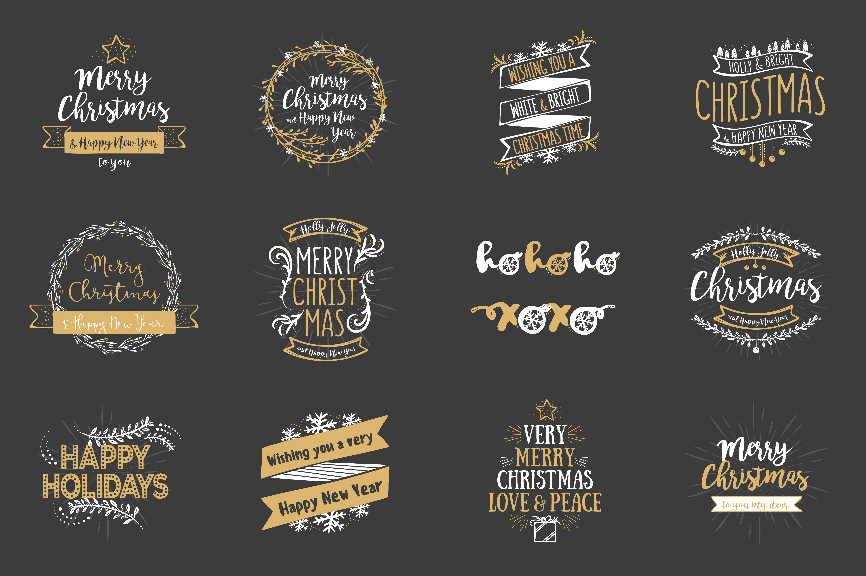 Christmas Overlays – Vector Set example image 5