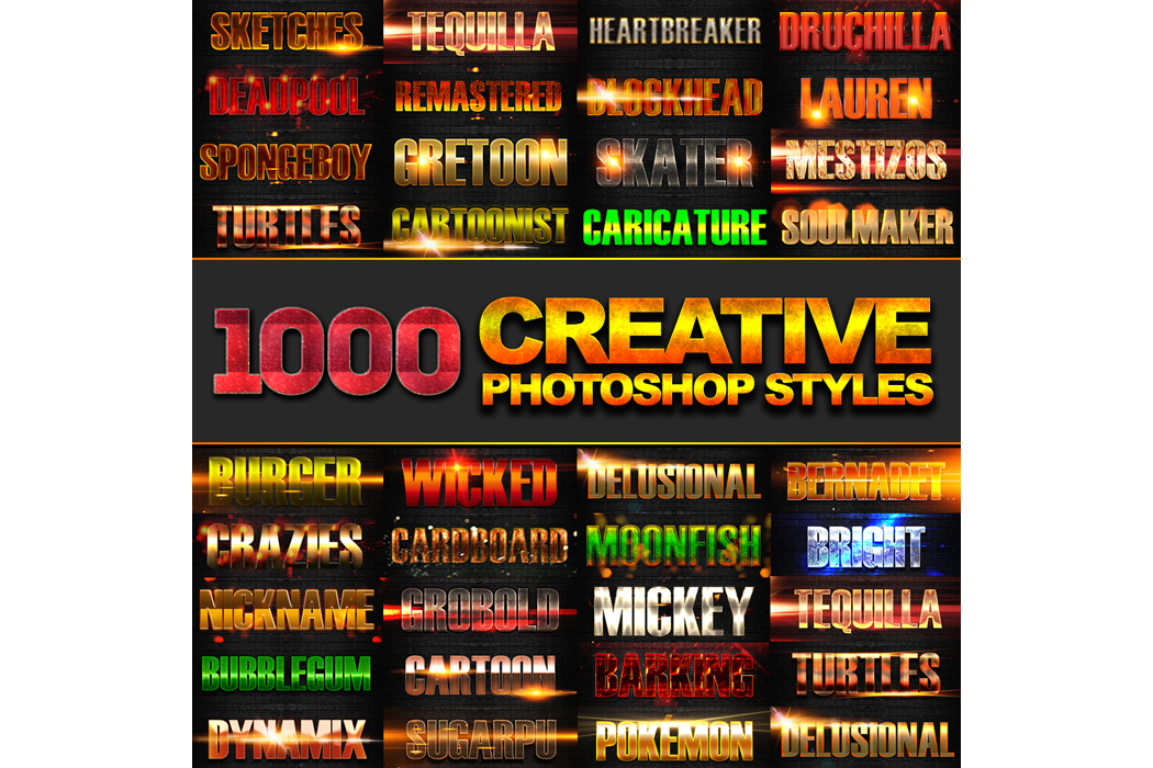 1600+ Mega Bundle Photoshop Styles example image 10