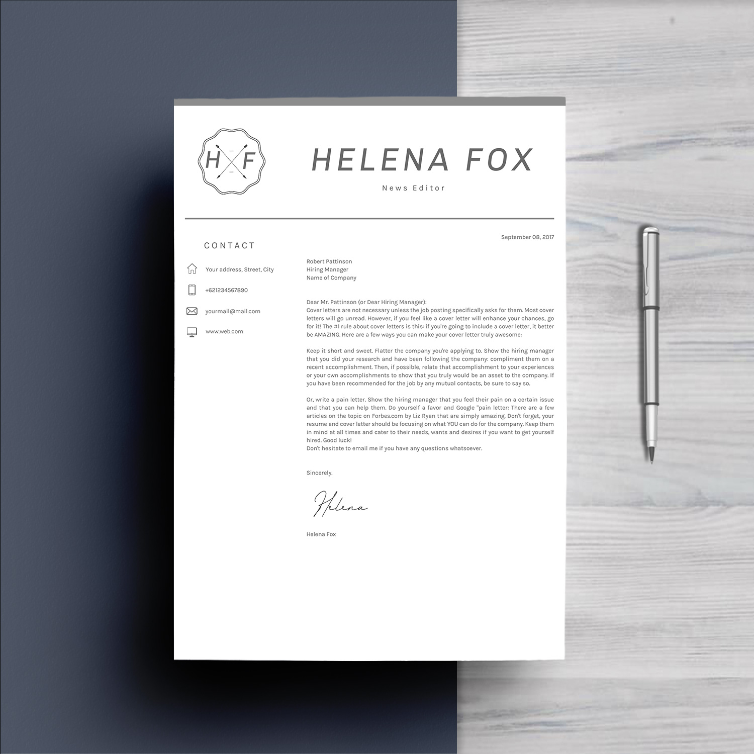 Creative Chic Resume Template 4 Pages example image 5