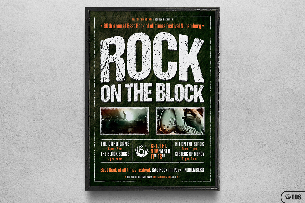 Rock Festival Flyer Template V1 example image 6
