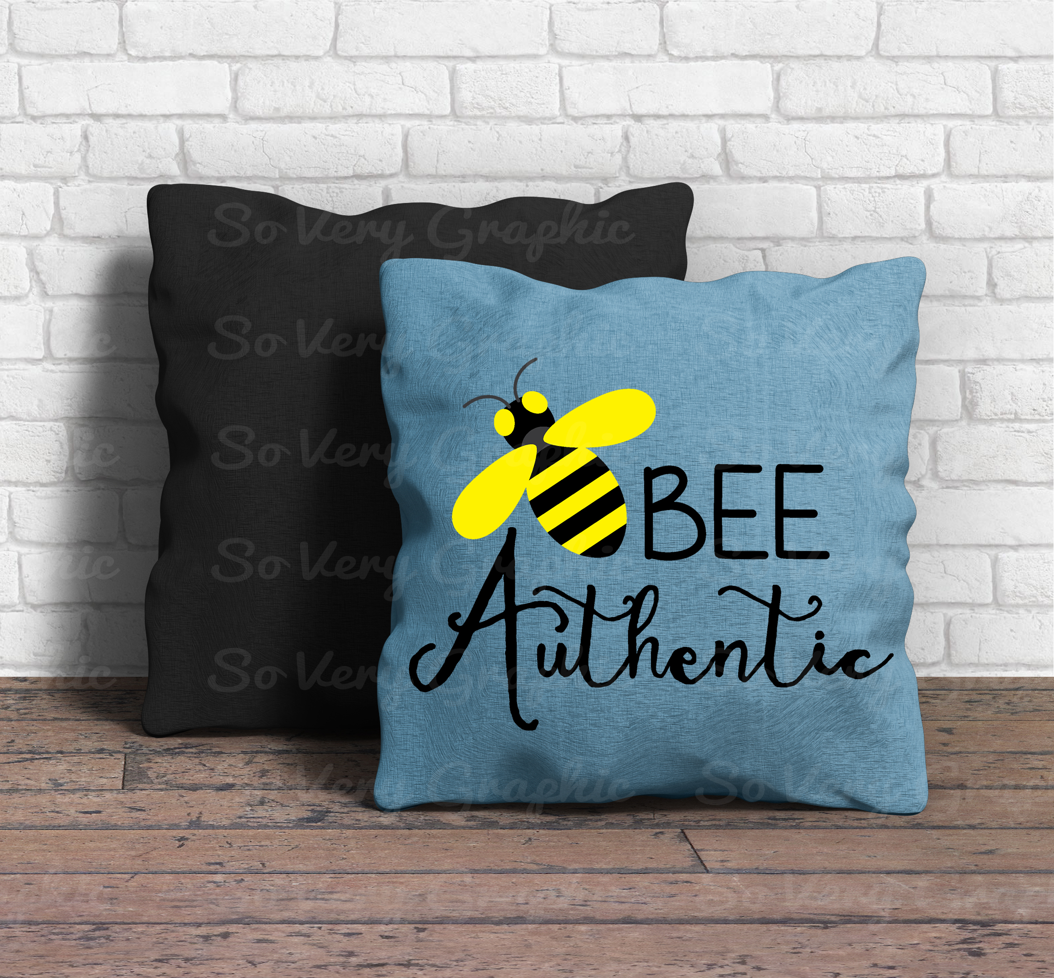 Bee Authentic | Cut File SVG | PNG Printable | Honey Bees example image 4