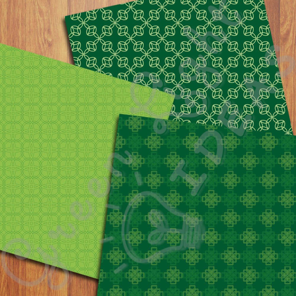 Celtic Digital Papers, St Patrick's Day Backgrounds, Irish Papers example image 5