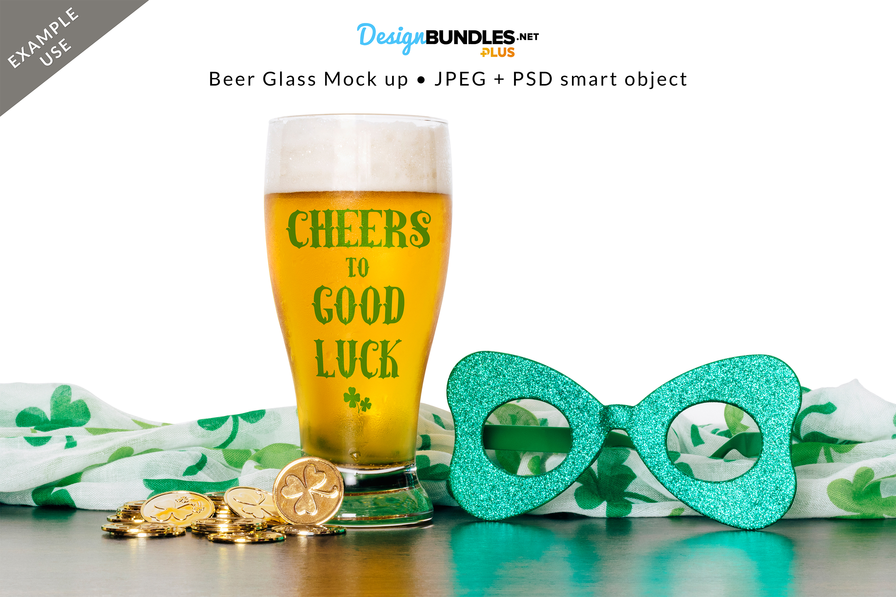 Beer Glass Mock up example image 2