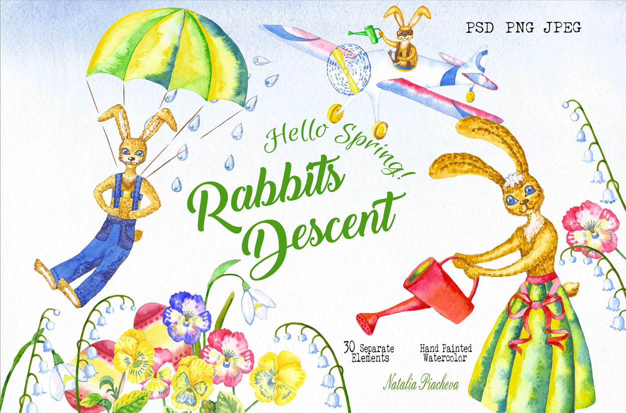 Welcome Spring! Rabbits Descent example image 1