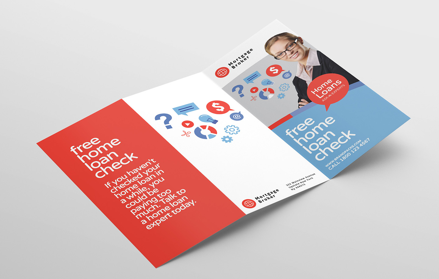 Modern Corporate Tri-Fold Brochure Template example image 4