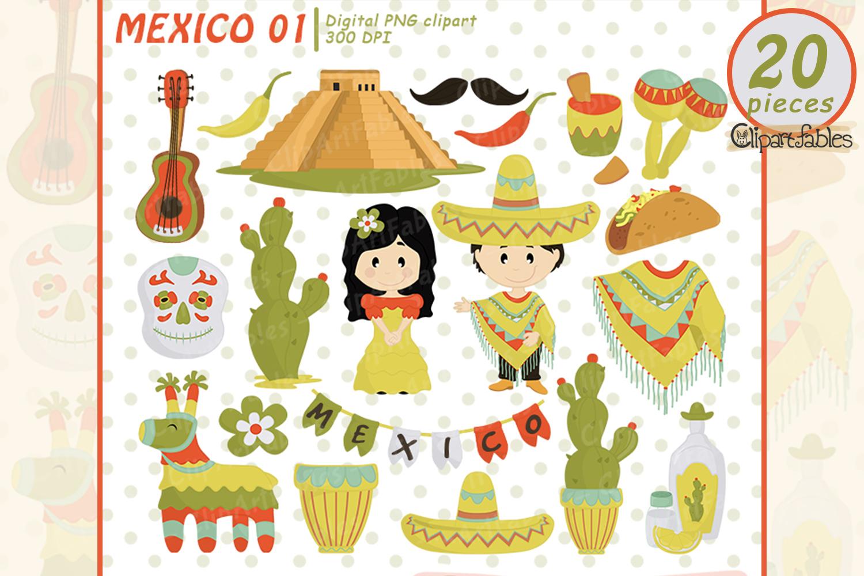 Mexican Cinco de Mayo clipart, digital clipart - instant example image 1