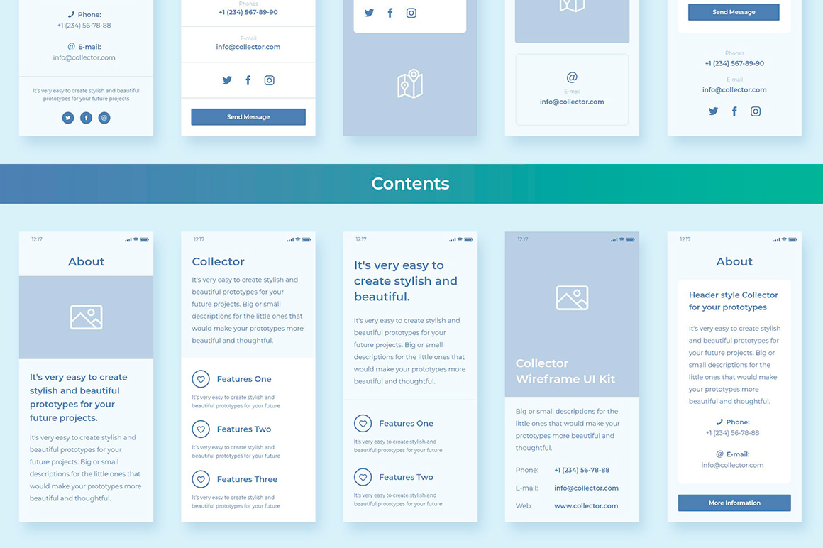 Collector Wireframe Web Kit example image 6