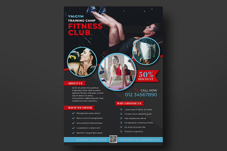 Fitness Flyer Templates example image 2