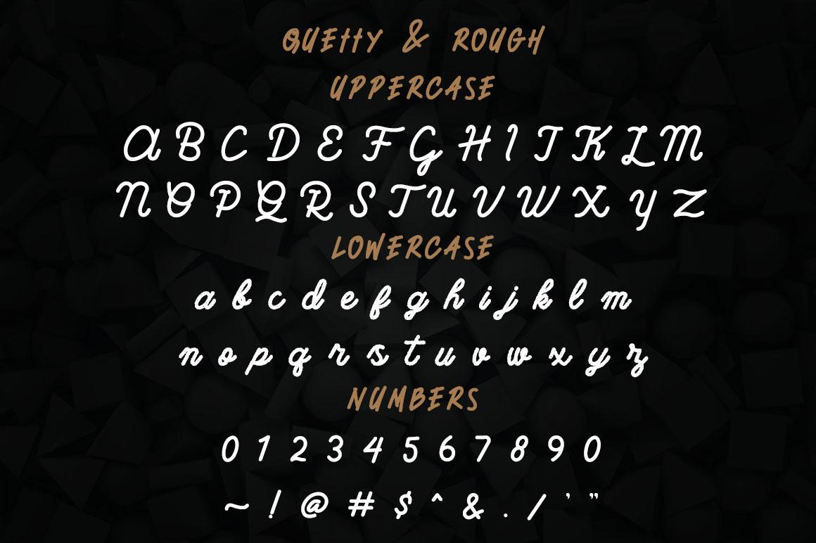 Quetty - Monoline & Handwrite Font example image 3