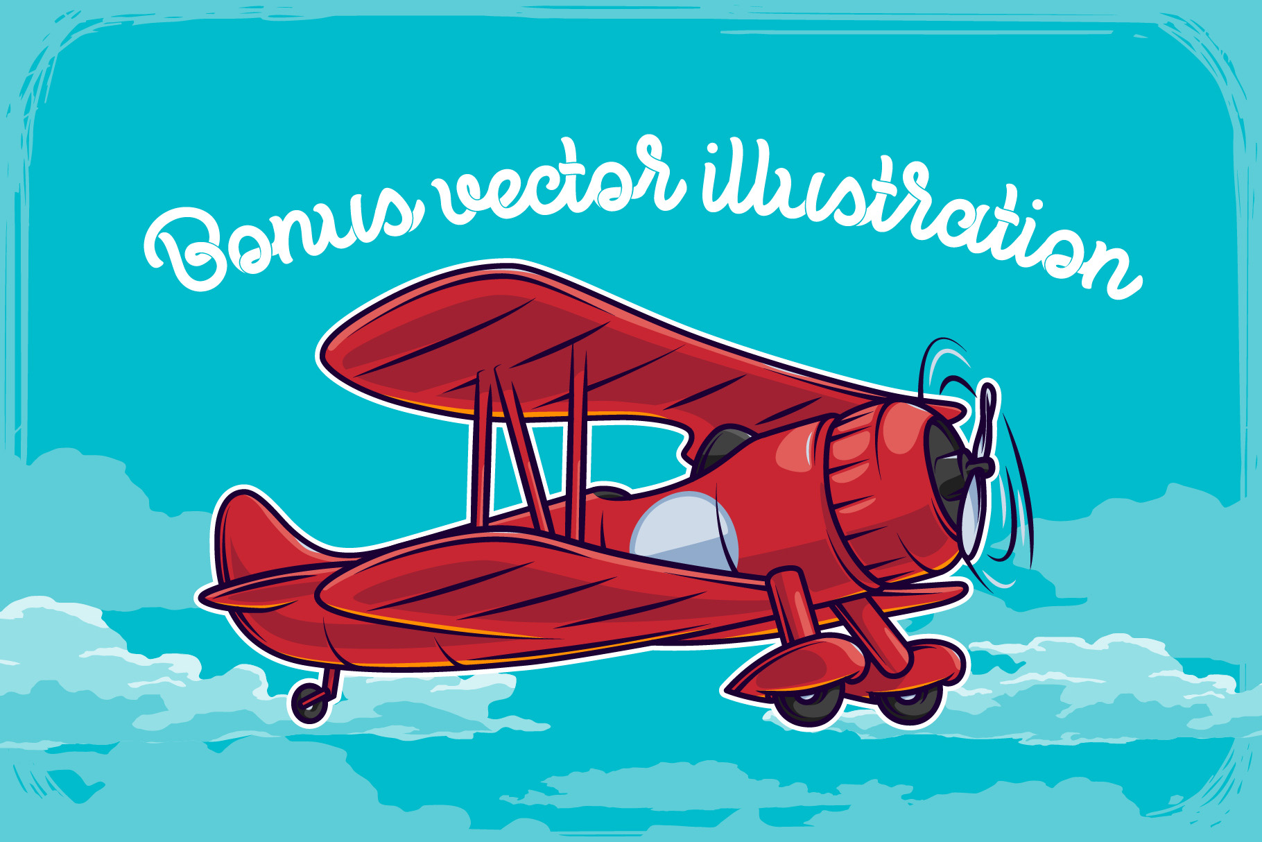Propeller font illustration example image 3