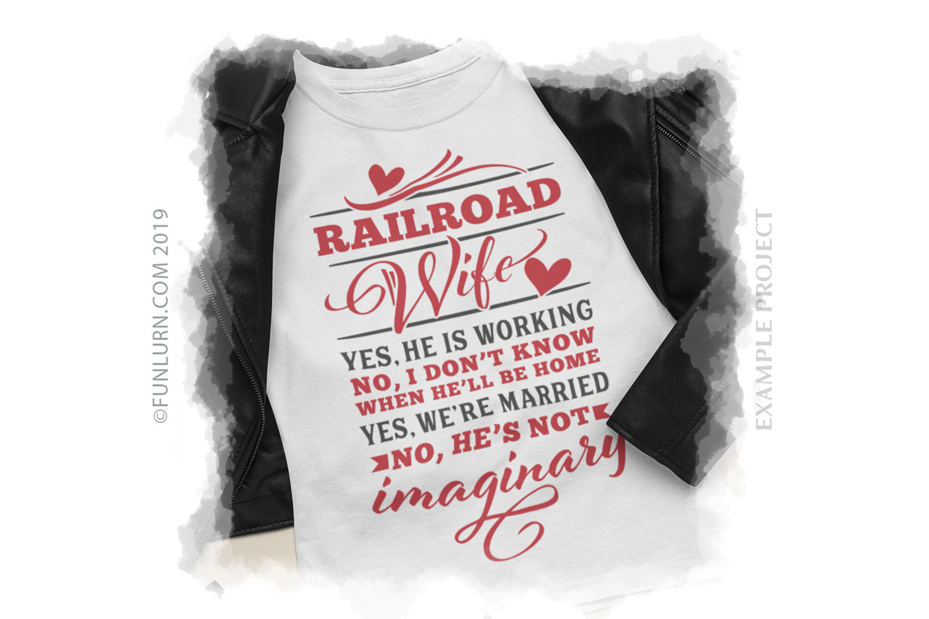 Railroad Wife Yes He Is Working SVG Cut File example image 3