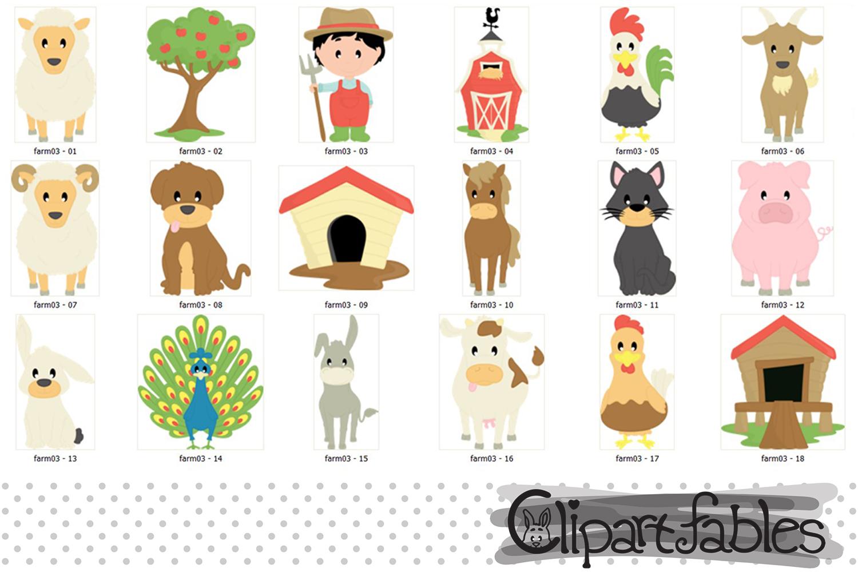 Farm clipart, nice barnyard clip art - instant download example image 2