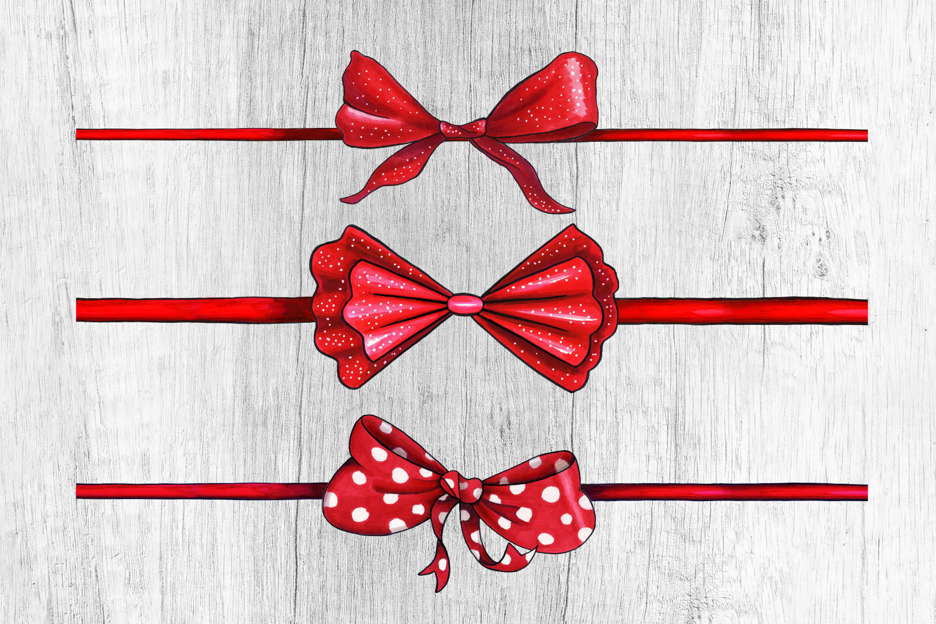 Bows and Ribbons Marker Clipart Collection example image 6