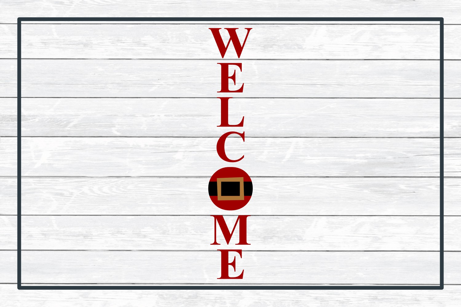 Welcome Holiday Porch Sign Design, SVG Cut File for Crafters example image 3