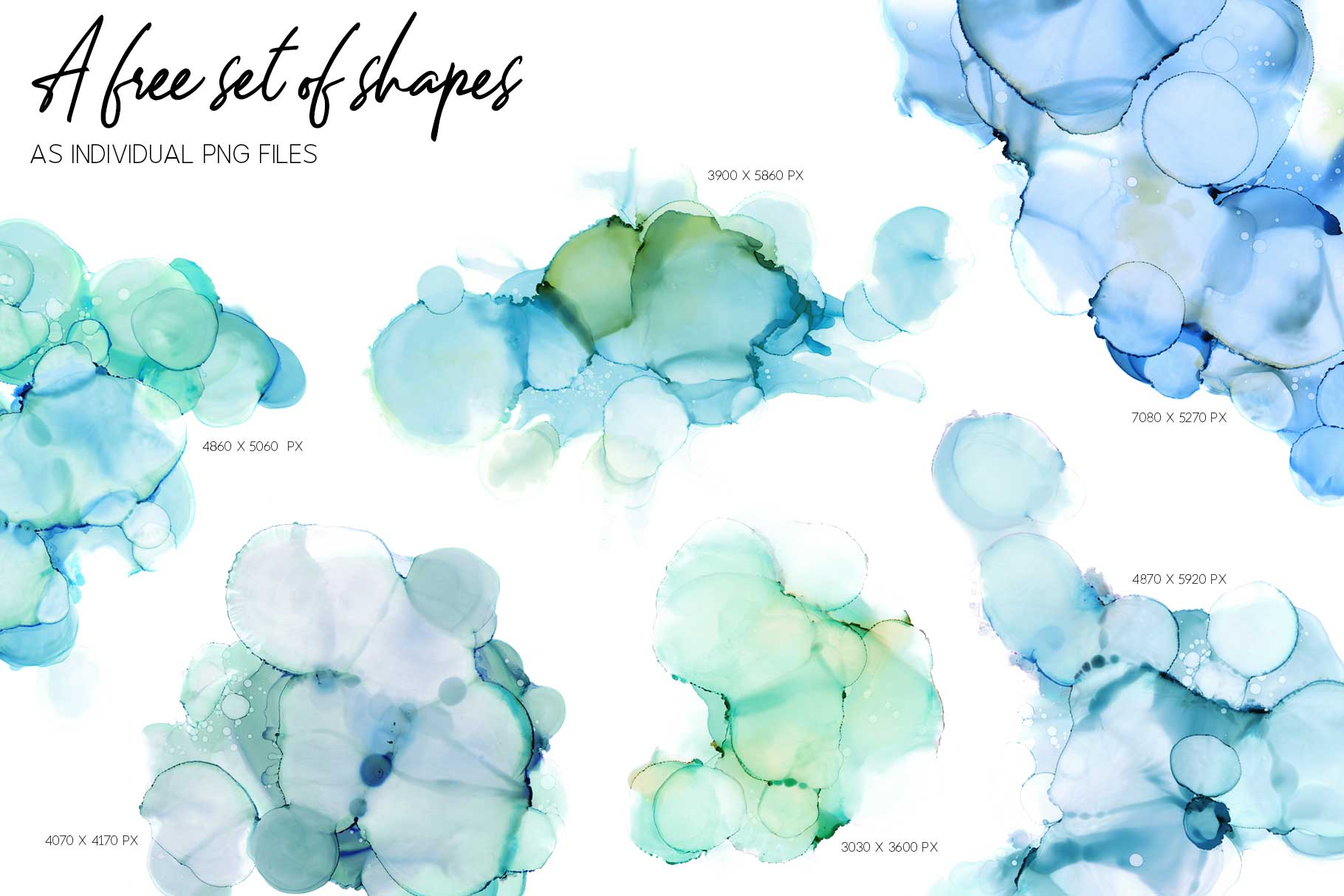 7 Huge Seamless Green Alcohol Ink Textures example image 3