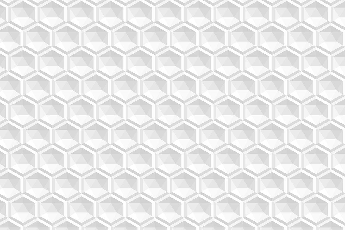 Decorative white seamless textures example image 2