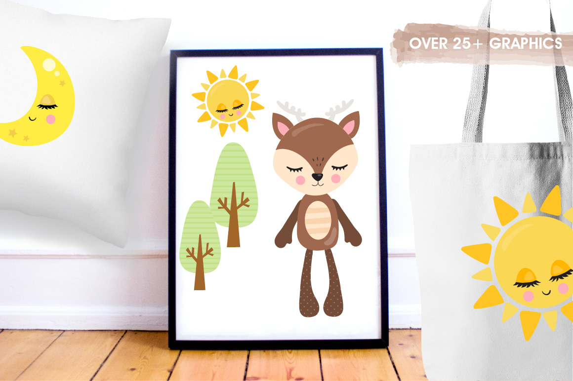 Woodland plushies graphics and illustrations example image 5