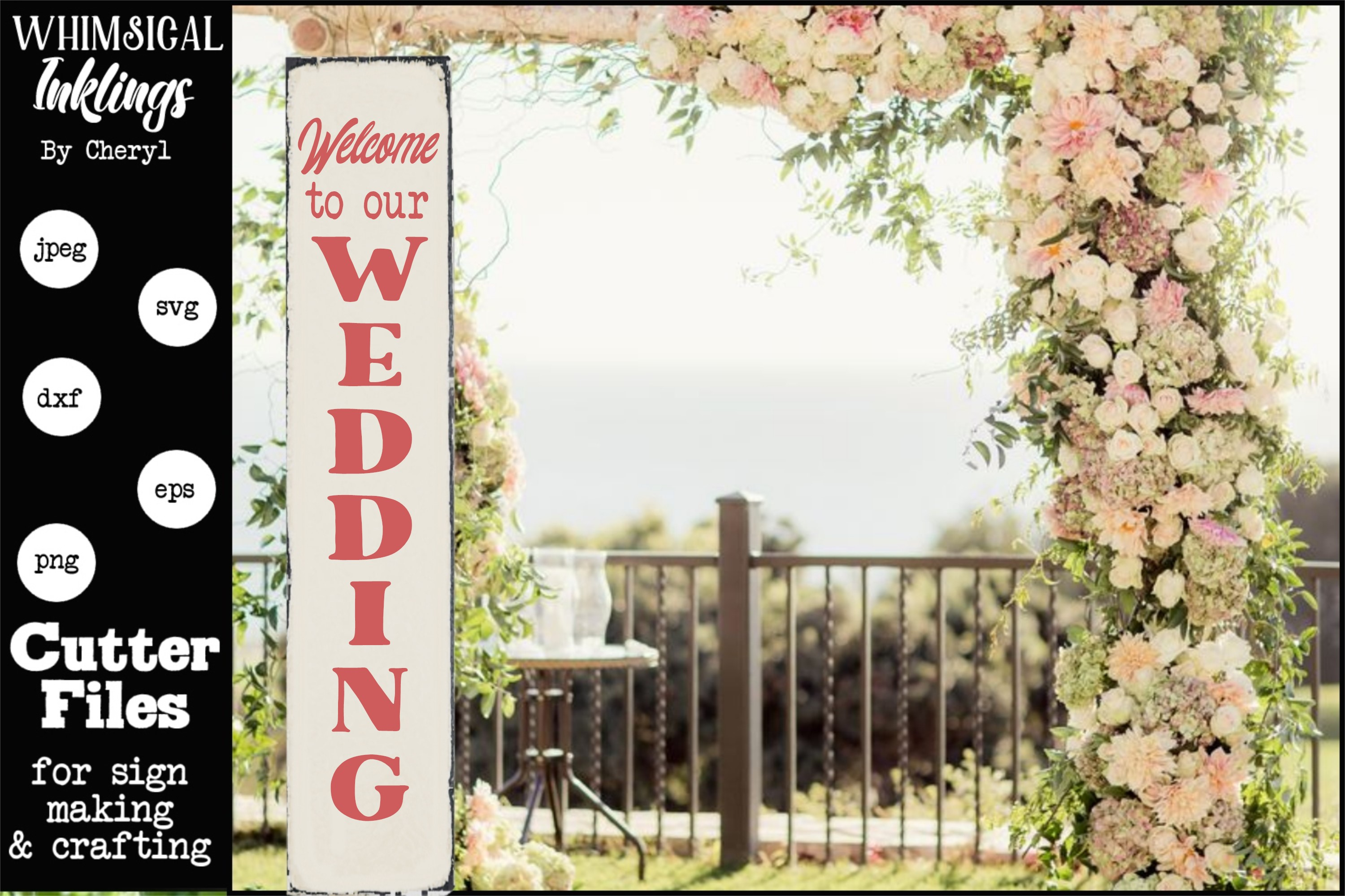 Welcome To Our Wedding- VerticalSVG example image 1