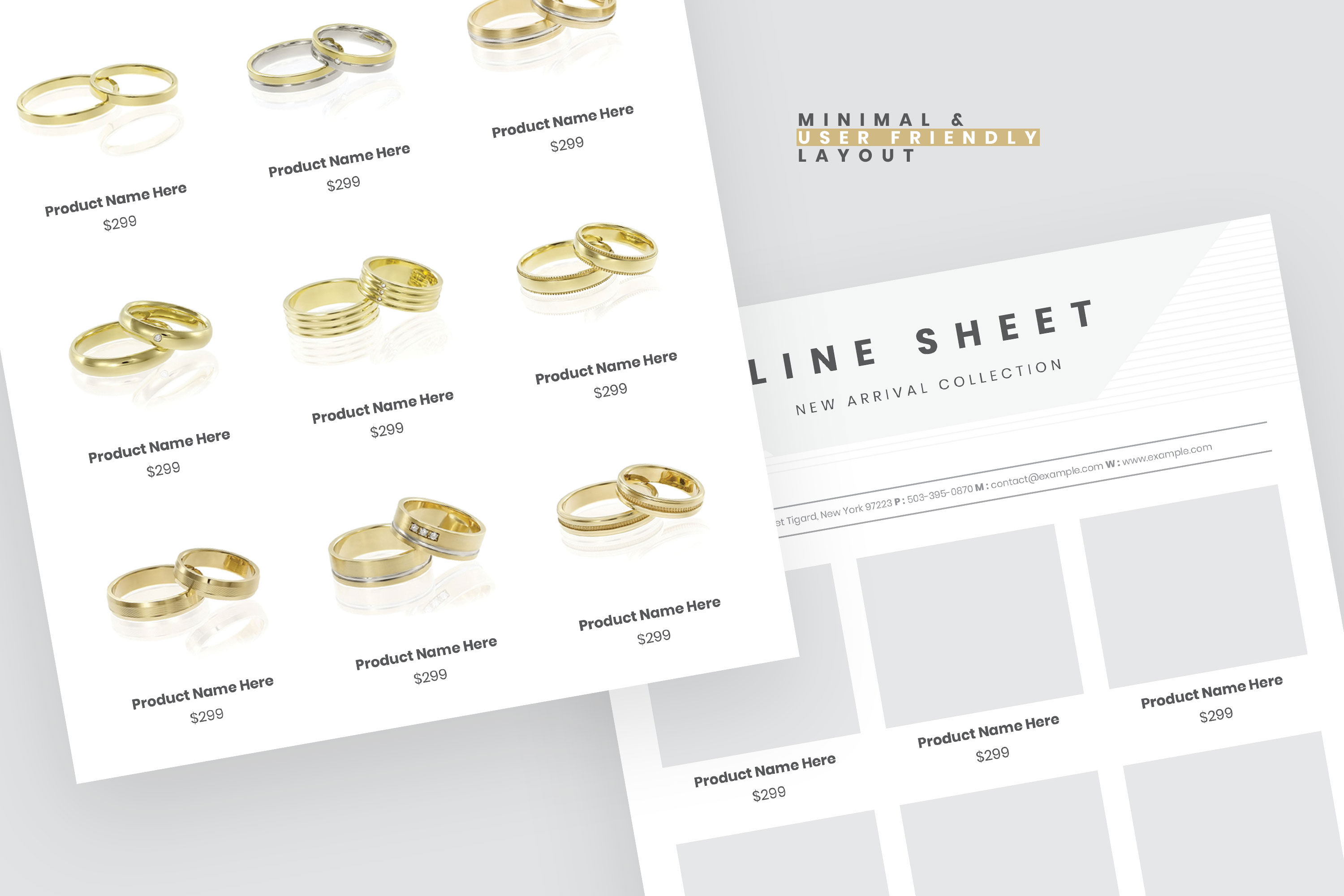 Jewelry Product Sale Flyer Template example image 3