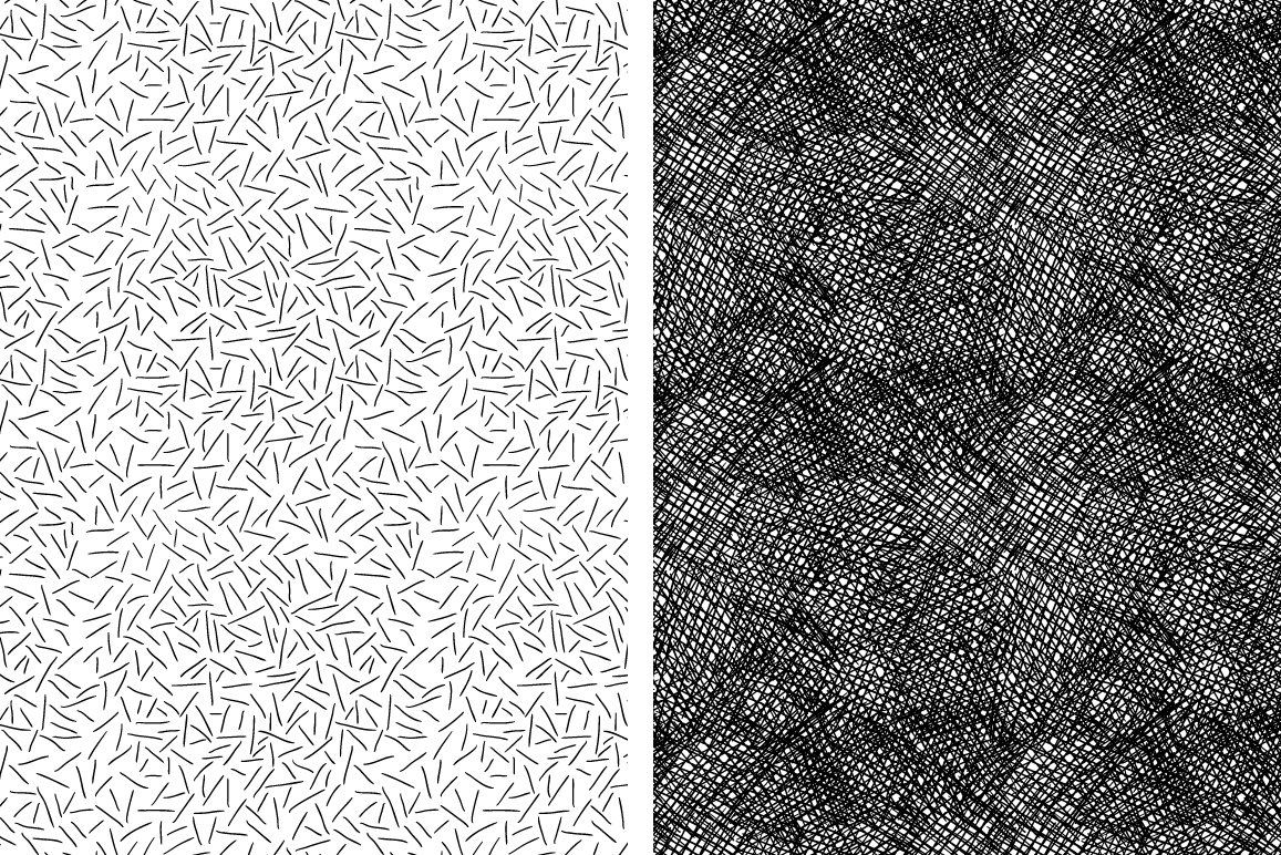 Set of 8 ink strokes effect patterns example image 3