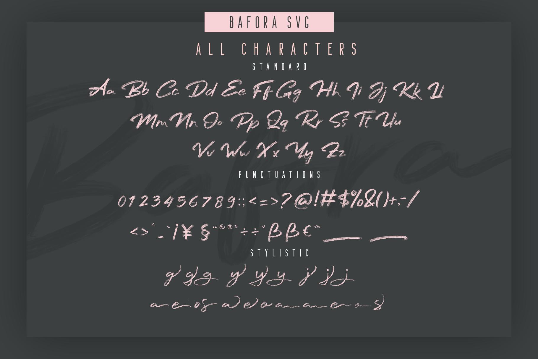 Bafora - SVG Font Bonus Bondie Font example image 2