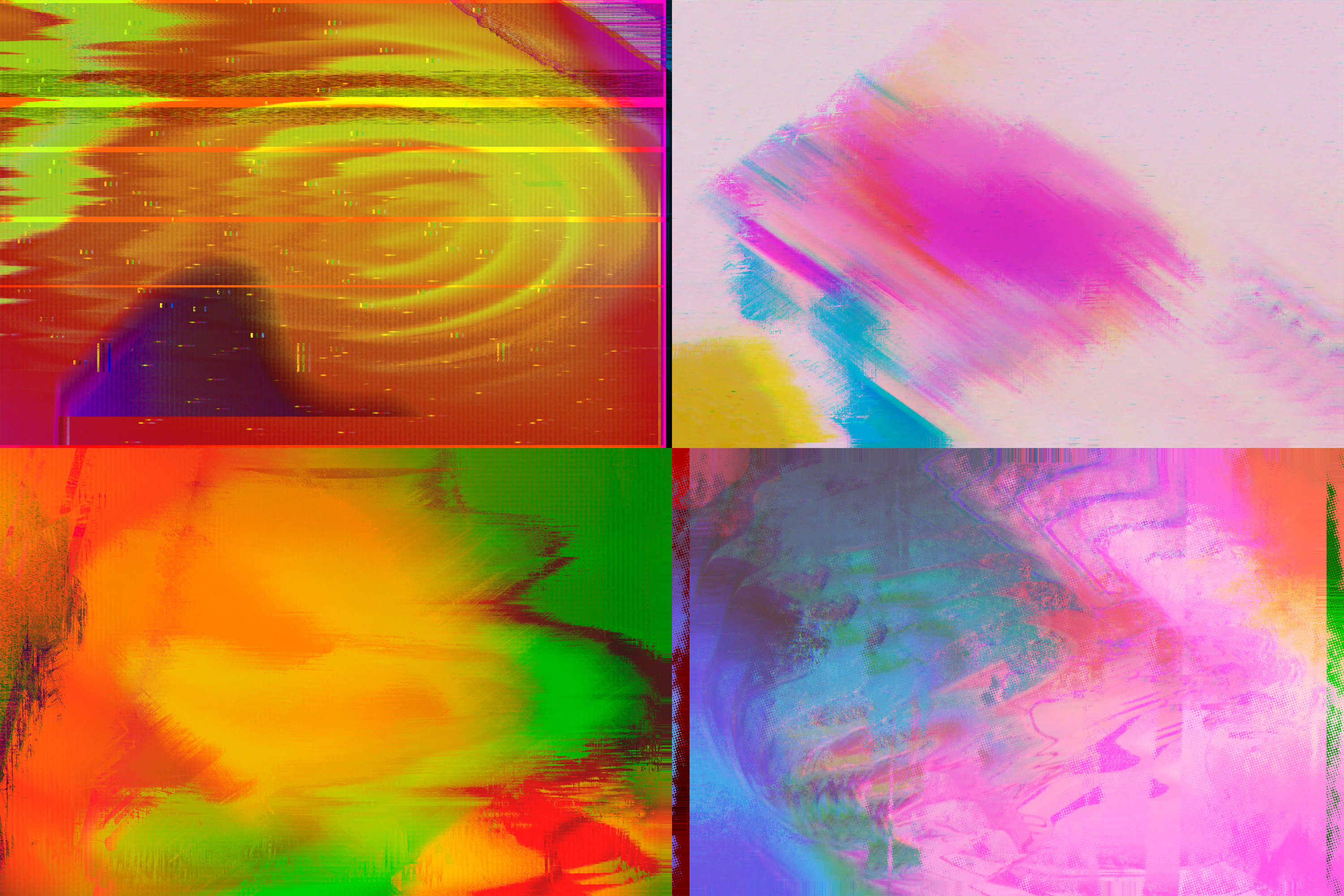 Abstract Glitched Backgrounds Pack example image 3