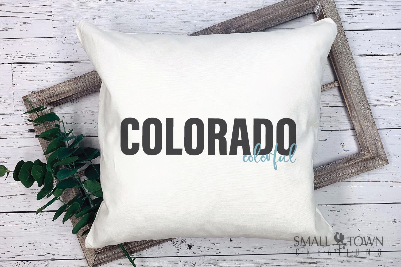 Colorado, Colorful - state slogan, Logo, PRINT, CUT & DESIGN example image 9