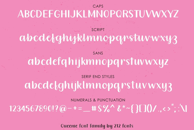 Queenie Font Family example image 3
