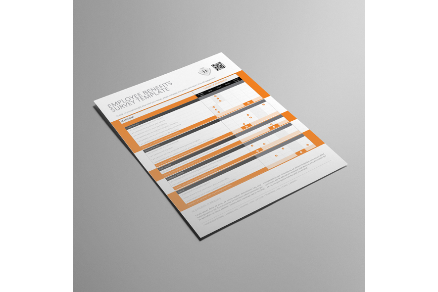 Employee Benefits Survey Form US Letter Template example image 3