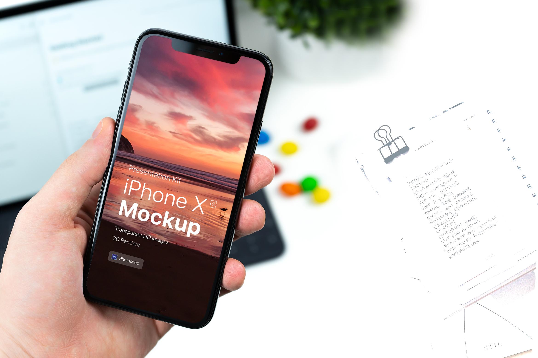 Presentation Kit - iPhone showcase Mockup_v7 example image 5