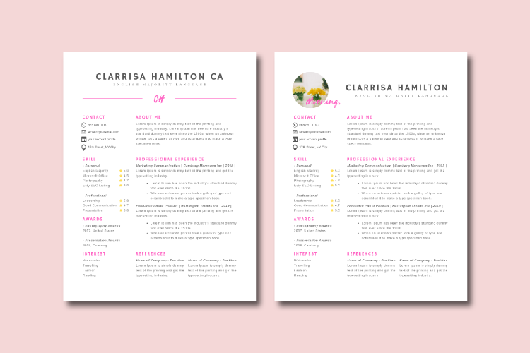 4 Sheets Canva Resume and CV Template Modern Professional example image 4