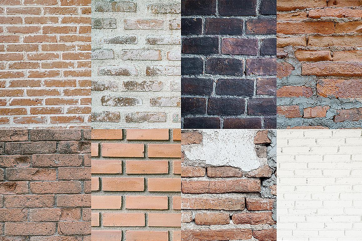 8 Brick Wall Texture Selected - edit example image 4