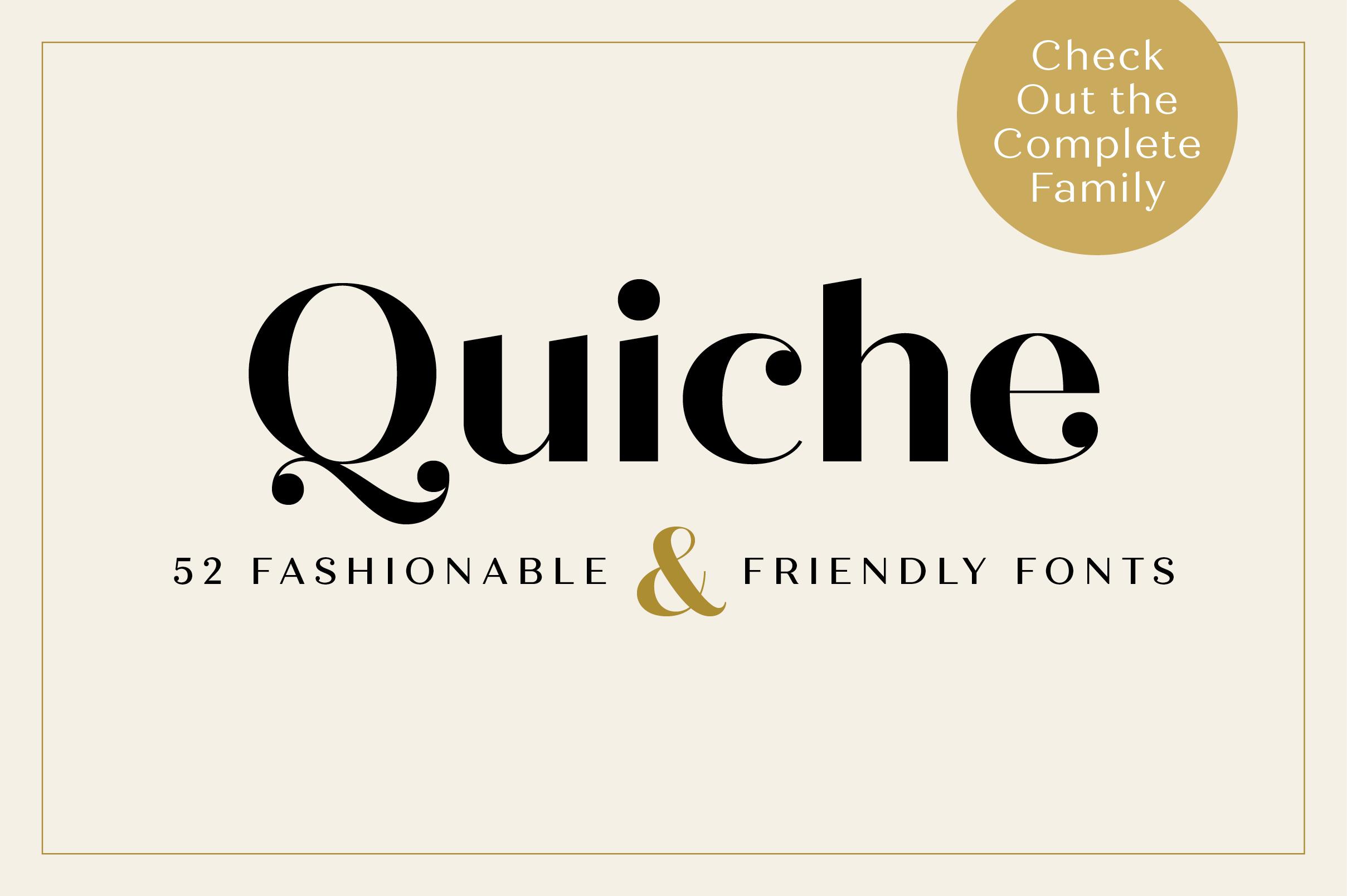 Quiche Fine Black Font example image 4