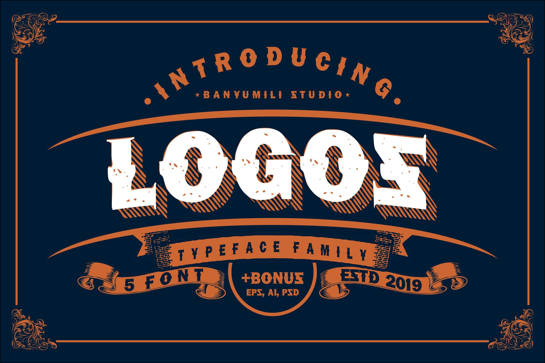 LOGOS | 5 Font Logo example image 1