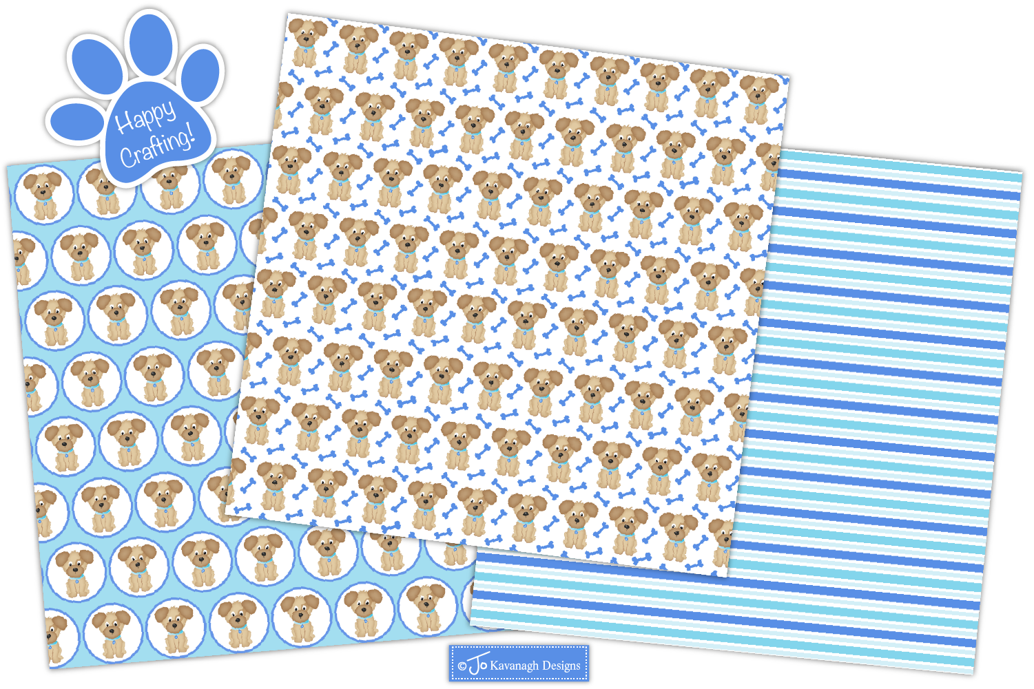 Dog Digital Papers, Dog Patterns, Puppy Dogs -P40 example image 5