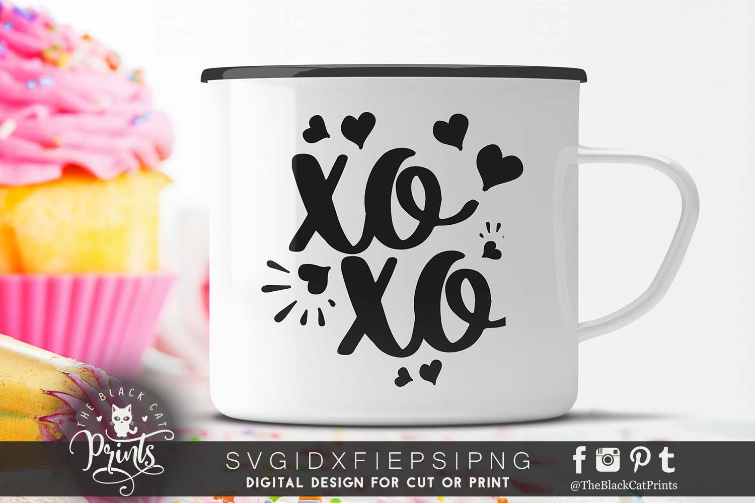 XOXO - Hugs and kisses SVG PNG EPS DXF example image 4