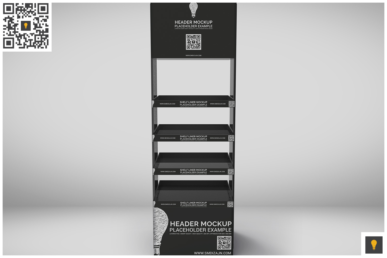 Promotional Store Shelf Stand Mockup example image 2
