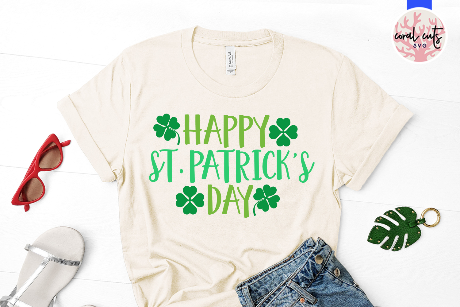 Happy st. patrick's day - St. Patrick's Day SVG EPS DXF PNG example image 2