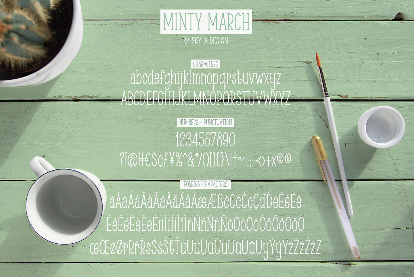 Skinny, condensed serif font, Minty March example image 5