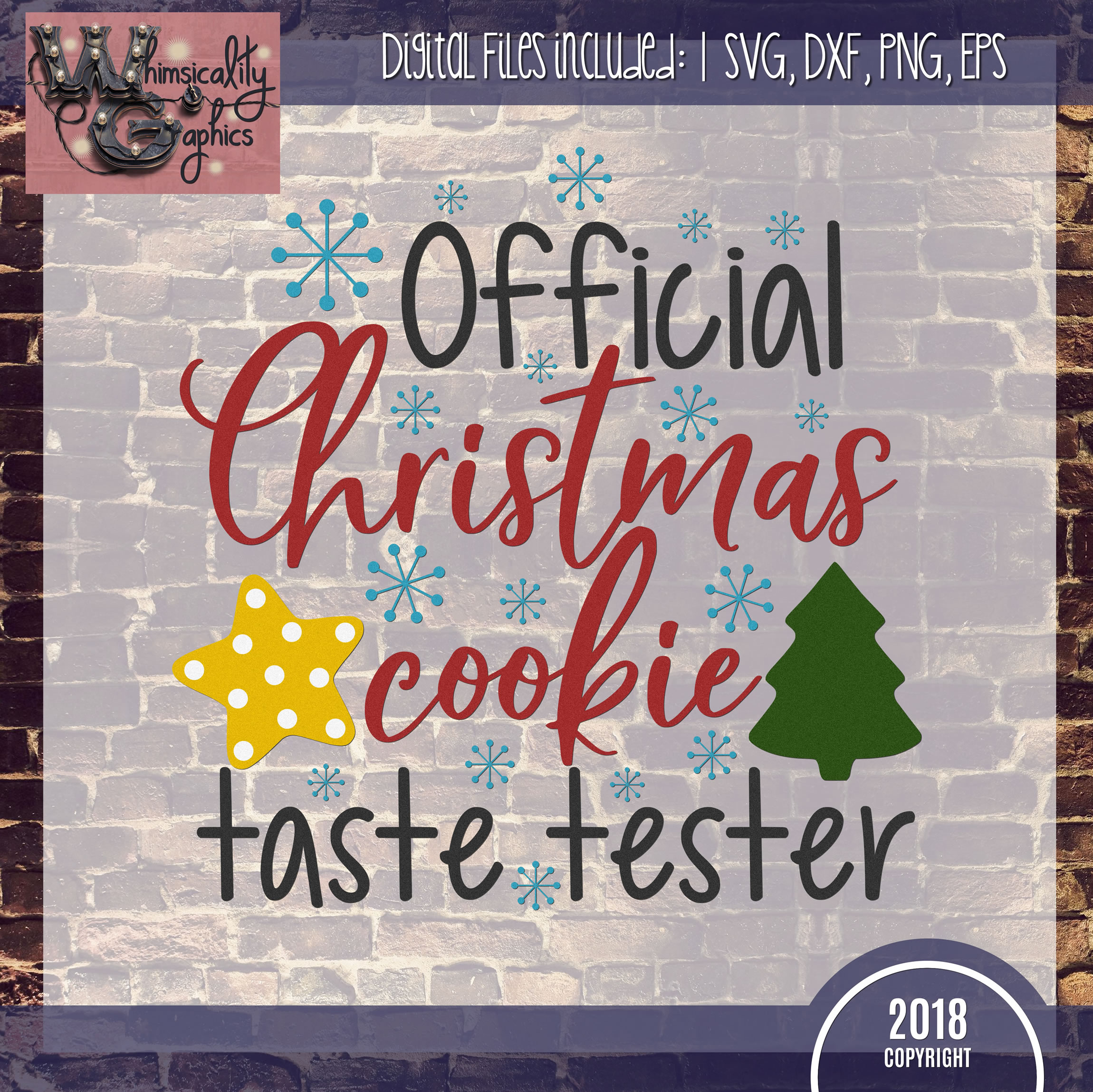 Official Christmas Cookie Test Taster SVG DXF PNG JPG example image 2