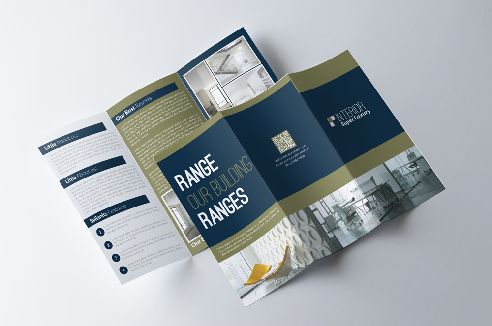 Real Estate Business Trifold Brochure example image 2