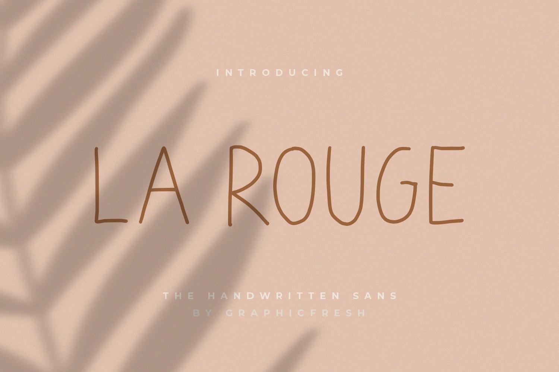La Rouge - Handwritting Sans example image 1
